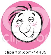 Clipart Illustration Of A Man With An Amorous Facial Expression