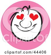 Clipart Illustration Of A Man With A Love Struck Facial Expression by Frisko
