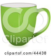 Royalty Free RF Clip Art Of A Profile View Of A Green Coffee Cup by michaeltravers