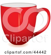 Royalty Free RF Clip Art Of A Profile View Of A Red Coffee Cup by michaeltravers
