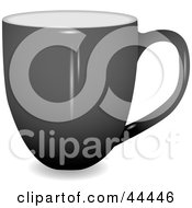 Royalty Free RF Clip Art Of A Profile View Of A Gray Coffee Cup by michaeltravers