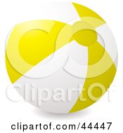Royalty Free RF Clip Art Of An Inflatable Yellow Beach Ball