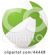 Royalty Free RF Clip Art Of An Inflatable Green Beach Ball