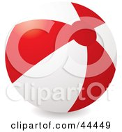 Royalty Free RF Clip Art Of An Inflatable Red Beach Ball