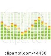 Green And Orange Equalizer Bar Of Rectangles