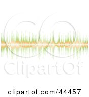 Royalty Free RF Clip Art Of A Green And Orange Sound Equalizer Bar Border by michaeltravers #COLLC44457-0111