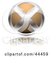 Circular Website X Button In Orange by michaeltravers