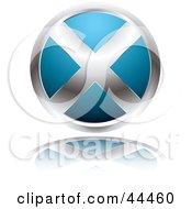 Circular Website X Button In Blue by michaeltravers