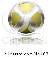 Circular Website X Button In Yellow by michaeltravers