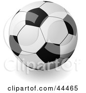 Royalty Free RF Clip Art Of A Traditional Soccer Ball Football by michaeltravers