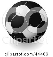 Royalty Free RF Clip Art Of A Black Soccer Ball Football by michaeltravers