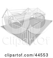 Clipart Illustration Of A Stick Structure Of A Home by toonster
