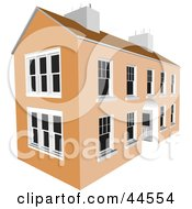 Clipart Illustration Of A Two Story Commercial Building With White Window Panes by toonster