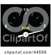 Full Gas Tank Gauge In A Car