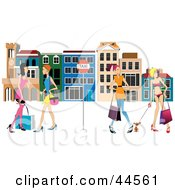 Clipart Illustration Of Women Waiting At A Bus Stop In Venice