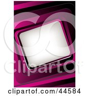 Clipart Illustration Of A Pink Website Background With A Slanted Text Box
