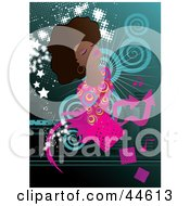 Clipart Illustration Of A Beautiful Black Woman Wearing Stylish Clothes by MilsiArt #COLLC44613-0110