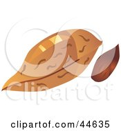 Clipart Illustration Of An Almond And Shell
