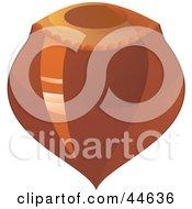 Clipart Illustration Of A Hazelnut Shell
