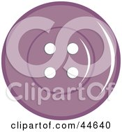 Clipart Illustration Of A Purple Sewing Button With Holes by MilsiArt