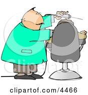 Dentist Using Big Drill On Patients Teeth