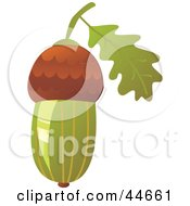 Clipart Illustration Of A Green Acorn