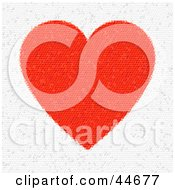 Clipart Illustration Of A Red And White Heart Triangle Mosaic Background