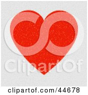Clipart Illustration Of A Red And White Heart Square Mosaic Background