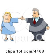 Business Couple Dancing Together Clipart by Dennis Cox
