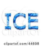 Clipart Illustration Of Blue ICE Text With Icicles