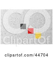 Clipart Illsutration Of A German Colored Square Mosaic Background