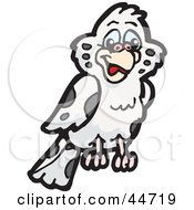 Clipart Illustration Of A Spotted Cloned Bird With A Dalmatian Coat Pattern by Dennis Holmes Designs