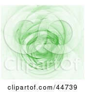 Royalty Free RF Clipart Illustration Of A Glowing Green Fractal Spinning by oboy