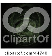 Royalty Free RF Clipart Illustration Of A Faint Green Spinning Fractal by oboy