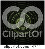 Royalty Free RF Clipart Illustration Of A Green Spiral Fractal Background by oboy