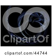 Royalty Free RF Clipart Illustration Of A Blue Curve Fractal by oboy