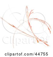 Royalty Free RF Clipart Illustration Of An Orange And Red Bouncing Fractal by oboy
