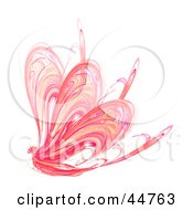 Royalty Free RF Clipart Illustration Of A Pink Butterfly Fractal
