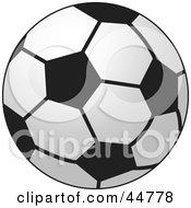 Royalty Free RF Clipart Illustration Of A Typical Black And White Soccer Ball by Lal Perera