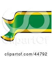 Royalty Free RF Clipart Illustration Of A Blank Green Yellow And Black Waving Banner