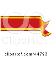 Royalty Free RF Clipart Illustration Of A Blank Red And Yellow Waving Banner