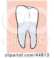 Royalty Free RF Clipart Illustration Of A Perfect Human Molar Tooth by Lal Perera