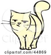 Royalty Free RF Clipart Illustration Of A Skeptical Cat Facing Front