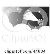 Royalty Free RF Clipart Illustration Of A Futuristic Comet Shooting Through The Night Sky