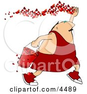 Valentines Day Man Spreading The Love Clipart by Dennis Cox
