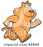 Royalty Free RF Clipart Illustration Of A Running Ginger Cat Character