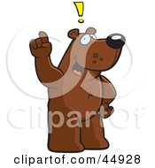 Royalty Free RF Clipart Illustration Of A Creative Bear Character Standing And Thinking Up An Idea by Cory Thoman