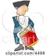 American Revolutionary War Drummer Clipart by djart