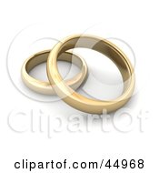 Royalty Free RF Clipart Illustration Of Two Golden Wedding Or Engagement Bands