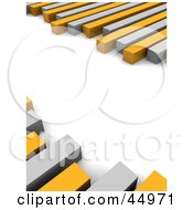 Royalty Free RF Clipart Illustration Of Random Gray And Orange Bars Of A Graph